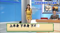 佐藤渚アナがスカートをめくる画像