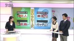 鈴木奈穂子アナの黒ストッキングと西堀裕美アナ画像