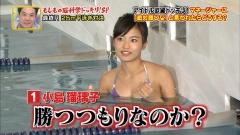 小島瑠璃子濡れ濡れビキニ競泳画像