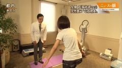 竹内由恵アナのブラ透けTシャツ画像