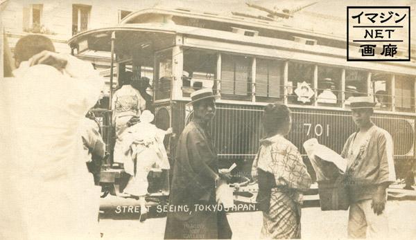銀座通りのバス 大正時代