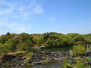 20130425京阪奈庭の池と段々滝