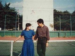 2010直美・テニスコートで語らう