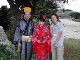 琉球衣装でノンタンと