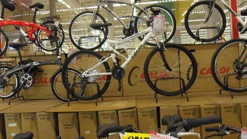 スーパーの自転車0711