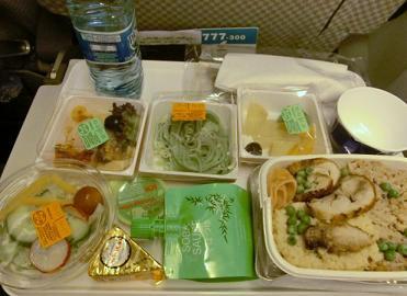 パリ→成田JAL機内食2
