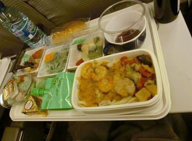 パリ→成田JAL機内食3