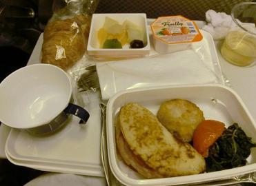 パリ→成田JAL機内食5