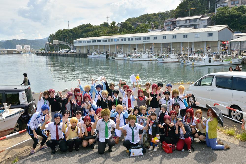 第2回岩美町イカ祭り&コスプレイベント集合写真