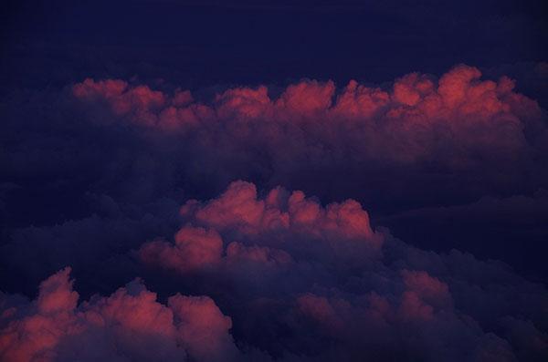 山形上空の積乱雲