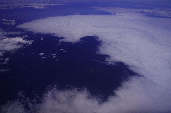下北半島のやませの雲