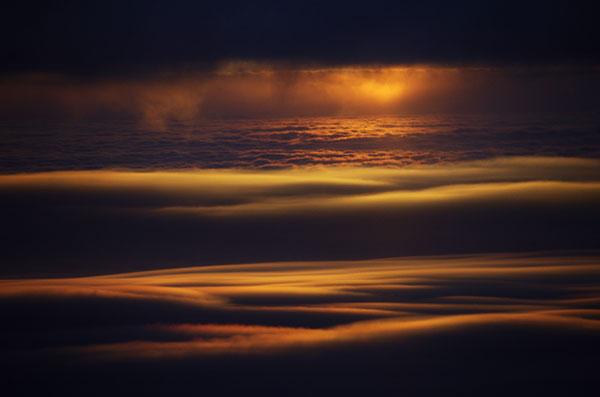 山形上空の雲海