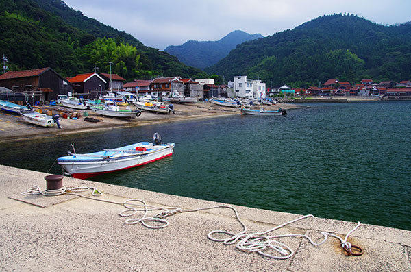 鷺浦の漁港