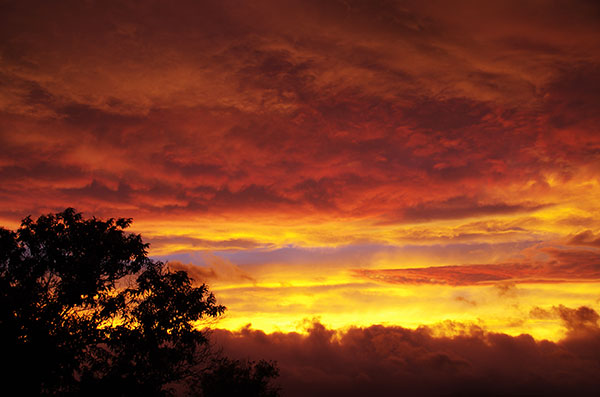 台風通過時の雲