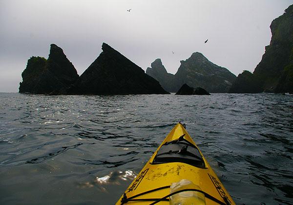 三貫島を漕ぐ