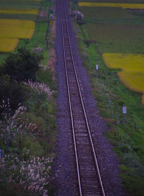 JR釜石線の鉄路