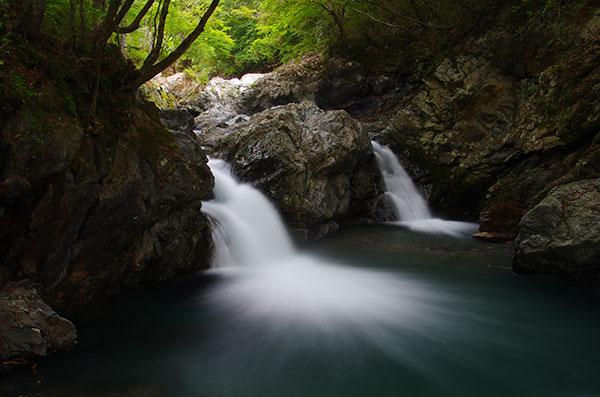 陸前高田の大滝と小滝