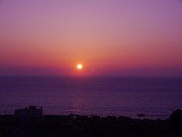 満光園からの夕日