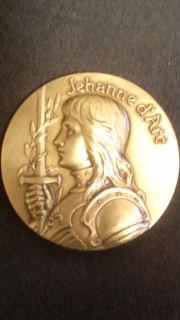 ジャンヌの記念メダル表