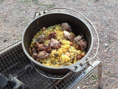 カレー風味の炊き込みご飯
