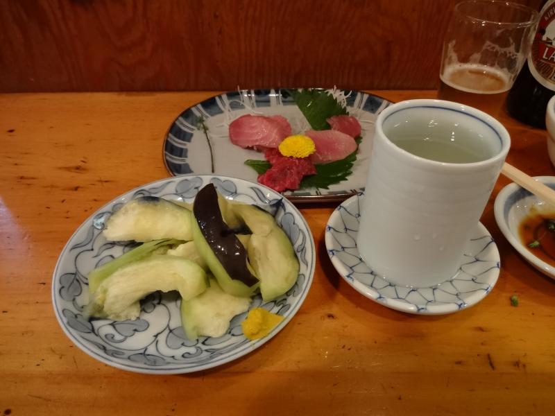 水ナスと日本酒