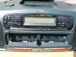 ビクターCDラジオWラジカセRC-X750-3