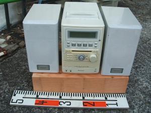 パイオニア ステレオMD/CDカセットデッキレシーバーXR-MDX717W-1