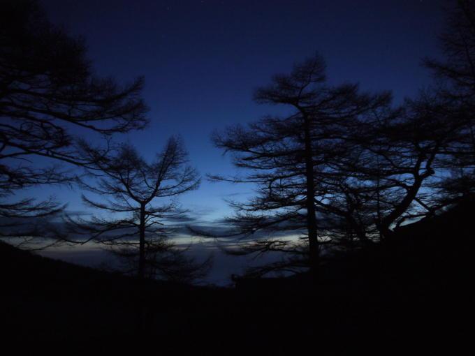 高峰温泉20130515-朝焼け