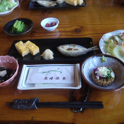 高峰温泉20130515-朝ごはん