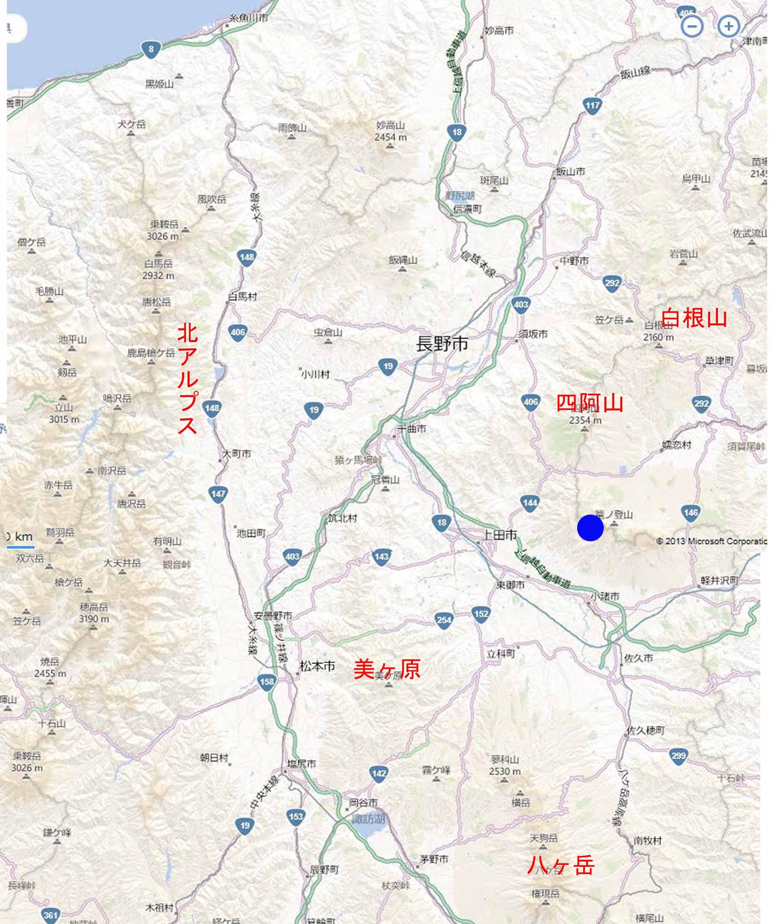 池の平湿原拡大マップ02