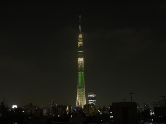 東京スカイツリー-シャンパン