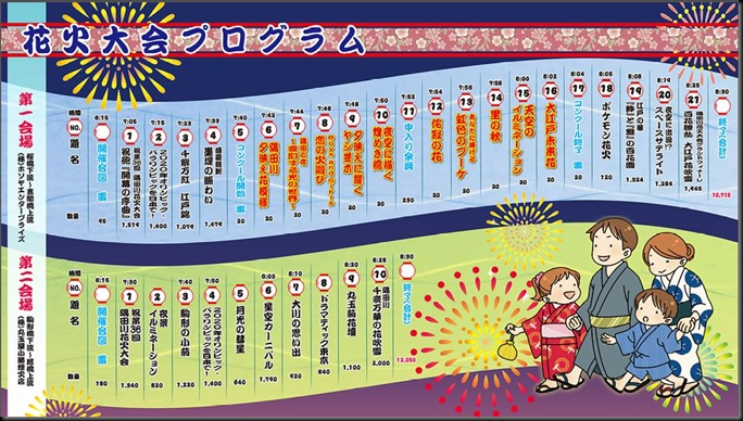 隅田川花火大会スケジュール2013