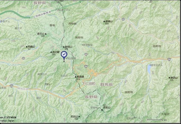 内山牧場地形図