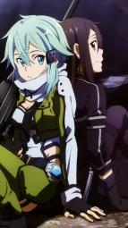 i_293488 gun kawatsuma_tomomi kirito sinon sword_art_online