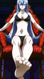 296491 akame_ga_kill! bikini cleavage esdeath feet nakamura_kazuhisa swimsuitsi_