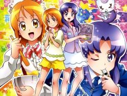 43_298057 calendar gura-san happiness_charge_precure! hikawa_iona oomori_yuuko pretty_cure satou_masayuki uniform