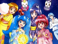 43_298058 aino_megumi blue_(precure) calendar gura-san hikawa_iona oomori_yuuko pretty_cure ribbon_(precure) satou_masayuki shirayuki_hime_(precure) yukata