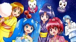 169_298058 aino_megumi blue_(precure) calendar gura-san hikawa_iona oomori_yuuko pretty_cure ribbon_(precure) satou_masayuki shirayuki_hime_(precure) yukata
