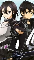 i_291650 cleavage gun gun_gale_online kirito shino_asada sword sword_art_online