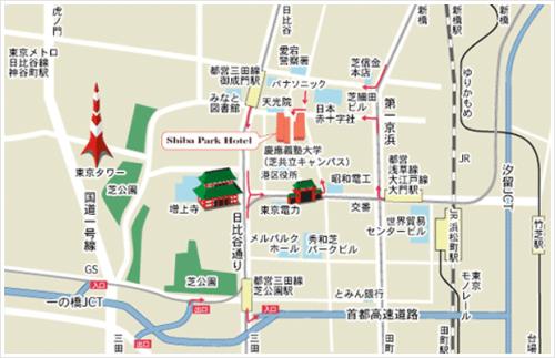 芝パークホテル地図d