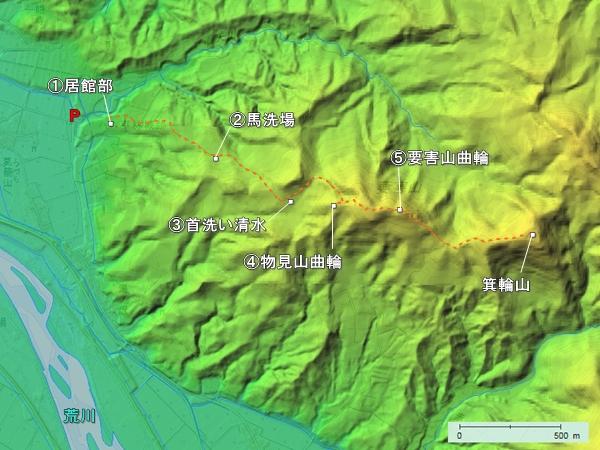 平林城地形図