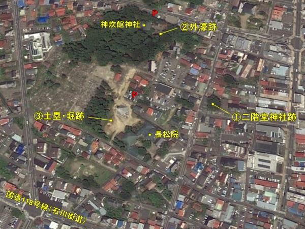 須賀川城鳥瞰図