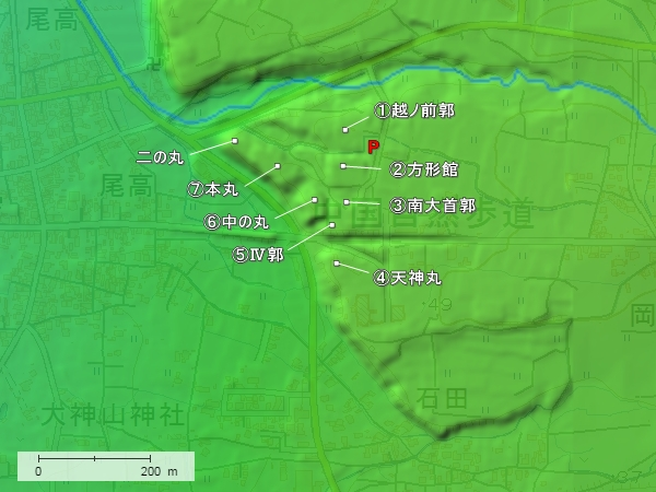 尾高城地形図