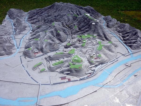 月山富田城立体模型