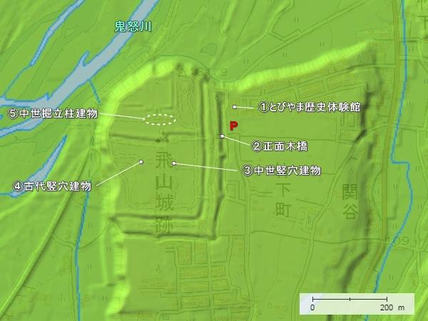 飛山城地形図