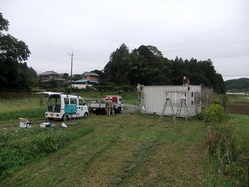 2013.9.24 コンテナ屋根補修(八反目) 010