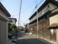 紀州街道沿いの紡績工場
