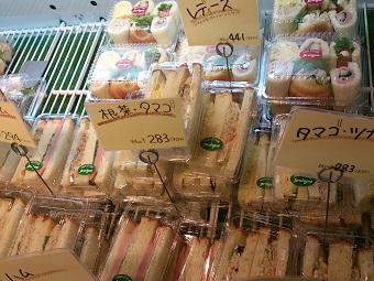 サンドウィッチはどれもおいしい