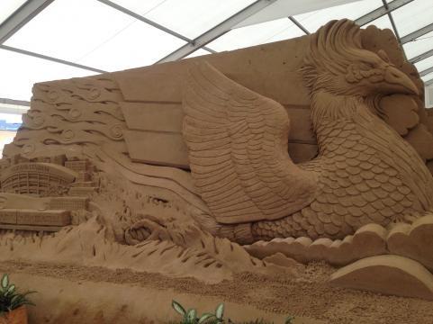 ヨコハマ砂の彫刻展2