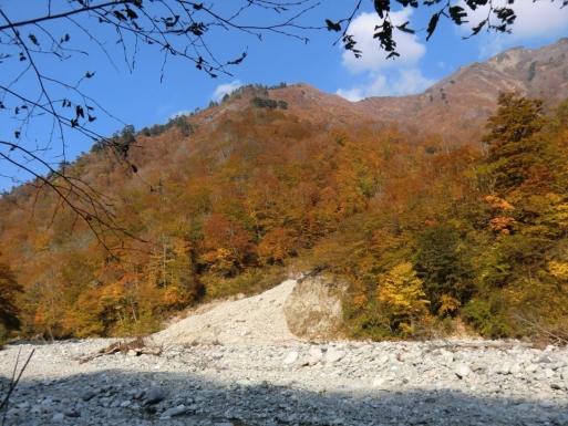 湯檜曽川沿い